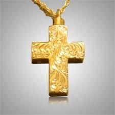 Etched Cross Memorial Jewelry II