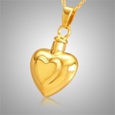 Double Heart Keepsake Pendant II