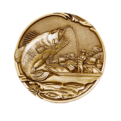 Fishing Coin Medallion Appliques