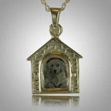 Dog House Locket Cremation Pendant