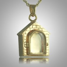 Dog House Locket Cremation Pendant II