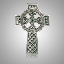 Irish Cross with Blessing Silver Medallion Appliques