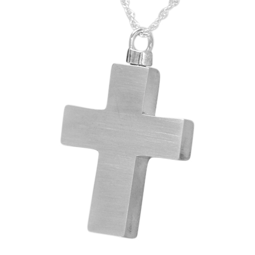 Large Eternity Cross Cremation Jewelry