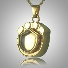Cat Paw Locket Cremation Keepsake II