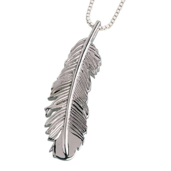 Feather Cremation Pendant