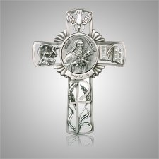 St. Theresa Cross Medallion Appliques