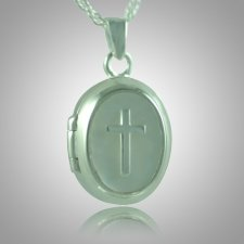 Cross Locket Keepsake Pendant