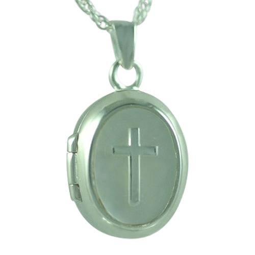 Cross Locket Keepsake Pendant III