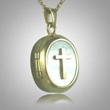 Cross Locket Keepsake Pendant II
