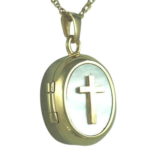 Cross Locket Keepsake Pendant IV