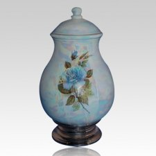 Tivoli Blue Ceramic Cremation Urn