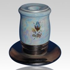 Callista Blue Candle Holder