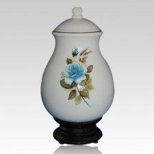 Serena Blue Ceramic Cremation Urn