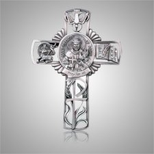 St. Francis of Assisi Cross Medallion Appliques