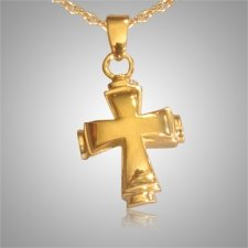 Round Cross Cremation Jewelry II