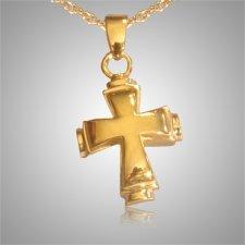 Round Cross Cremation Jewelry II