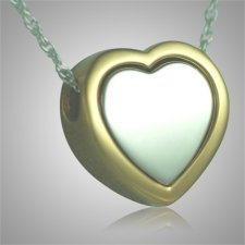 Double Layer Heart Keepsake Pendant
