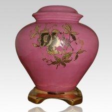 Classic Pink Ceramic Oversized Urn