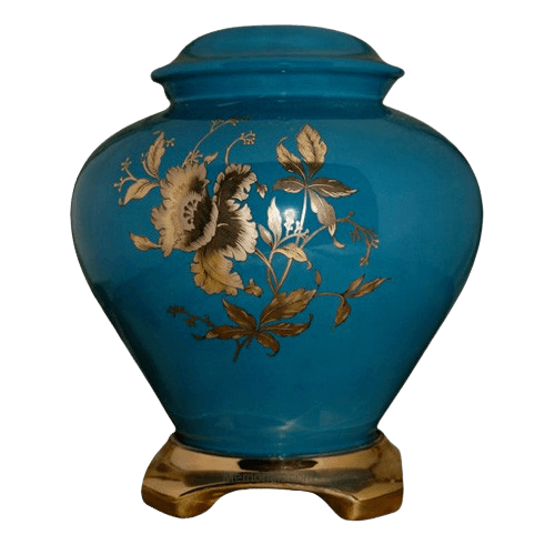 Classic Green Ceramic Oversized Urn