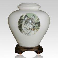 Lone Wolf Cremation Urn