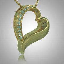 Slider Stone Heart Keepsake Pendant II