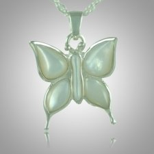 Butterfly Pearl Cremation Jewelry III