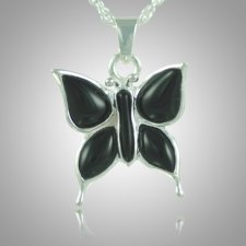Butterfly Onyx Cremation Jewelry III
