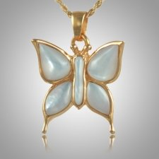 Butterfly Pearl Cremation Jewelry IV