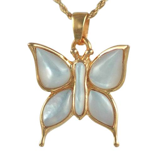 Butterfly Pearl Cremation Jewelry II