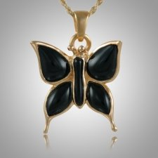 Butterfly Onyx Cremation Jewelry IV