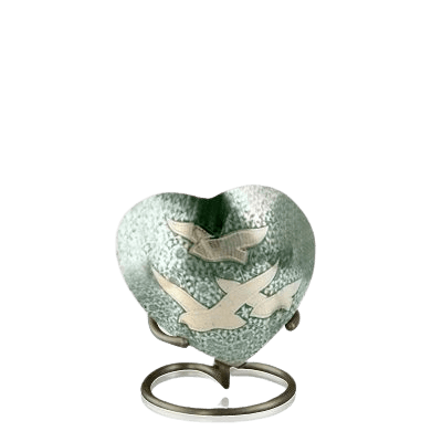 Loving Doves Heart Keepsake Urn