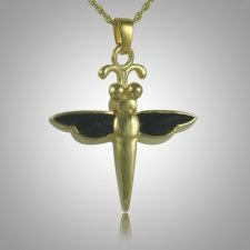 Dragonfly Onyx Cremation Jewelry IV