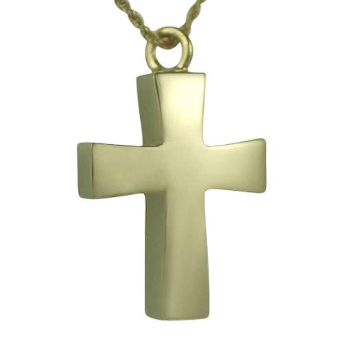 Curved Cross Keepsake Pendant II