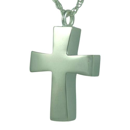 Curved Cross Keepsake Pendant
