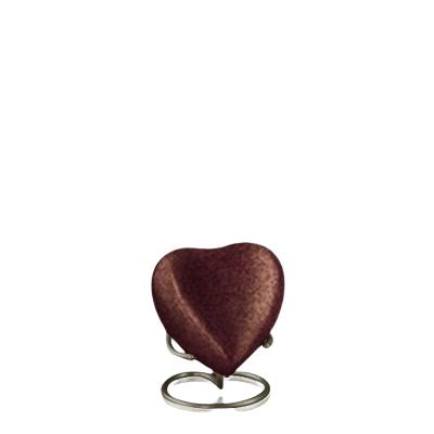 Brown Earthtone Heart Keepsake Urn