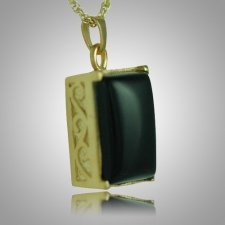 Rectangle Onyx Antique Keepsake Pendant II