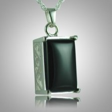 Rectangle Onyx Antique Keepsake Pendant