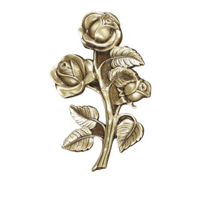 Stem Rose Medallion Appliques