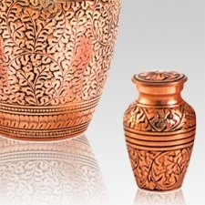Antique Copper Keepsake Cremation Urn