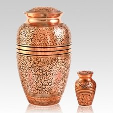 Antique Copper Cremation Urns