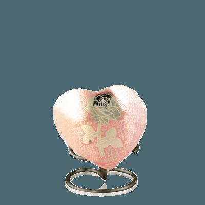 Rose Heart Keepsake Urn