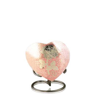 Rose Heart Keepsake Urn