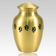 Classic Paw Print Large Brass Urn