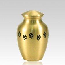 Classic Paw Print Medium Brass Urn