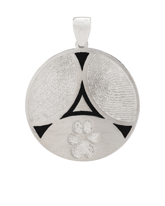 Pet 3 Print White Gold Keepsake