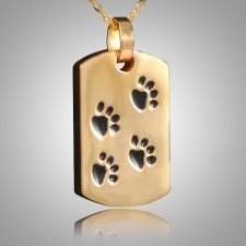 Pet Paw Print Dog Tag Keepsake IV