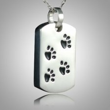 Pet Paw Print Dog Tag Keepsake III