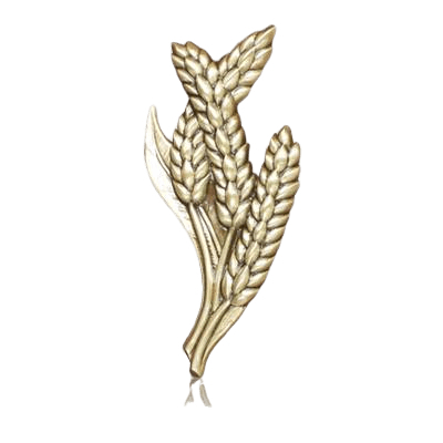 Twisted Wheat Medallion Appliques