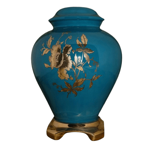 Princess Green Ceramic Urn