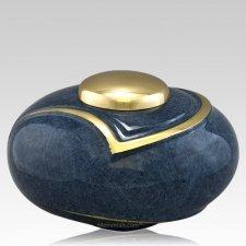 Luce Blue Cremation Urn